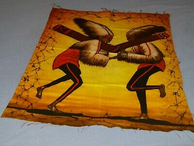 "Vintage 1991 Handpainted Canvas signed by artist ""Kashinde"""