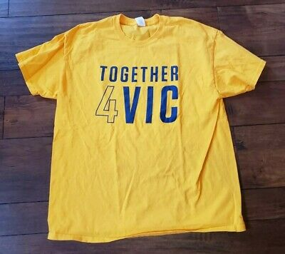 hot sale online c0b54 e128d NBA INDIANA PACERS Together 4 Vic Victor Oladipo Yellow T-Shirt Mens XL