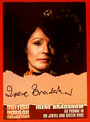 BRITISH HORROR - IRENE BRADSHAW, Yvonne - DR. JEKYLL & SISTER HYDE - Autograph