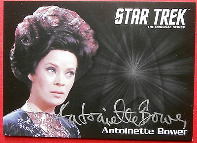 STAR TREK TOS 50th - ANTOINETTE BOWER as Sylvia LIMITED EDITION Autograph Card