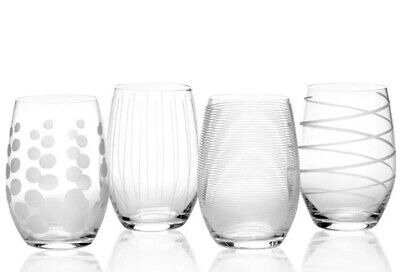 Mikasa Glassware Cheers Stemless Wine Glasses Set Of 4 $68