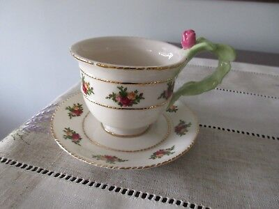 NWT Royal Albert Old Country Roses Bone China Floral Teacup/Saucer Set