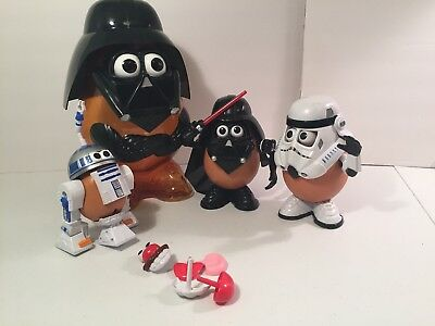 Mr. Potato Head Lot 2002 HasBro Star Wars Darth Vader R2-D2 Storm Trooper