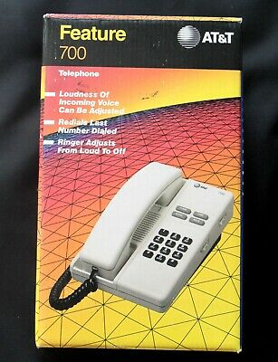 AT&T Feature 700 Corded Telephone Dove Gray - New in Open Box