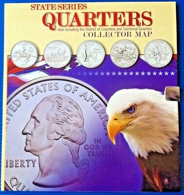 NEW Uncirculated 1999-2008 50 State + 6 Territories Quarters in Collection Book
