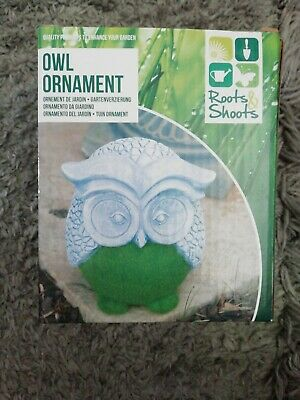 Flocked Effect Owl Animal Garden Ornament Patio Ornaments Indoor Outdoor