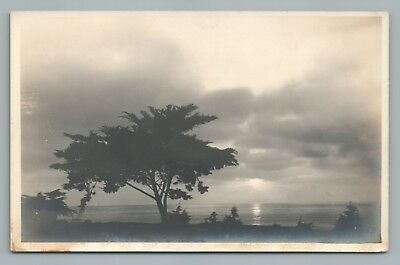Pacific Sunset LEOPOLD HUGO Photo LA JOLLA California—Rare Antique 1910s