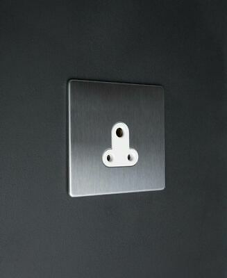 DESIGNER SOCKETS AND SWITCHES - Dowsing & Reynolds Silver round 5 amp socket