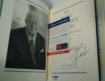 JIMMY CARTER The Nobel Peace Prize Lecture Autographed Book PSA/DNA AC94950