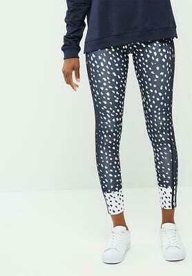 f7a13edc5c124 Adidas Originals Trefoil Legends Ink Dots Leggings Size Small NWT Navy Rita