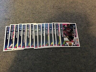 Match Attax Uefa Champions League 2018/19 Full Set Of All 15 Rising Stars Mint