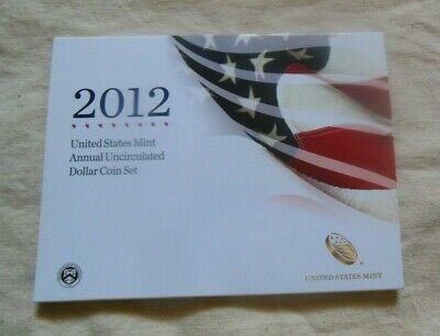 2012 U.S. Mint Annual Uncirculated Dollar Set 6 coin Limited Low Mintage Silver