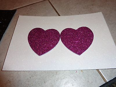 Nipple Covers / Pasties Glitter Purple Hearts