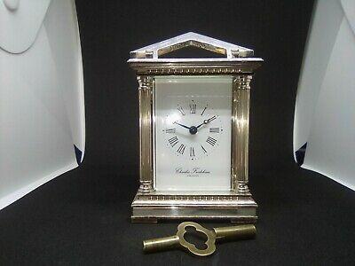 A Stunning  Charles Frodsham Of London  Hallmarked Silver Carriage Clock