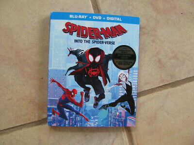 Spider-Man:🕷 Into The Spider-Verse (Blu-ray+DVD+Digital) W/Slipcover❗️