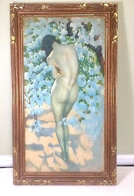 Early 20Th Century Illustration Oil On Canvas Nude Painting Gimbel Bros New York