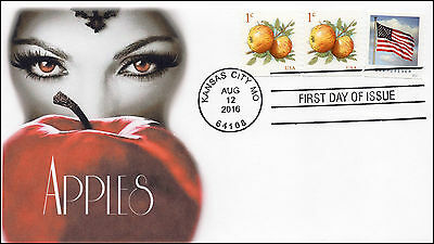 2016, Apples, First Day Cover, Witch, 1 cent, 16-263