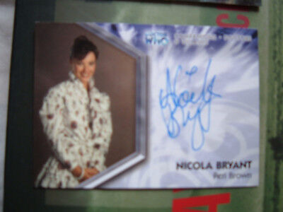 Doctor Who Nicola Bryant Peri Genuine Autograph card DWT-A4 Signed