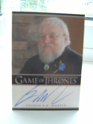 Game of thrones season 2 George R R Martin author Autograph Card