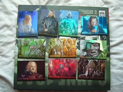 Lord of the Rings Prismatic foil chase set of 10 cards ROTK 1-10