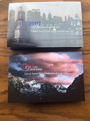 2007 U.s. Mint Set...28 Coins...uncirculated...both Philadelphia And Denver