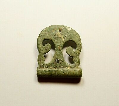 Ancient Roman Bronze Application / Decoration - Openwork Richly Decorated