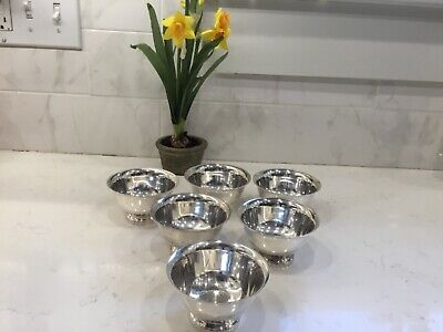 Lot Of 6 Reed & Barton Paul Revere footed Silver Cups bowls