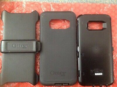 For Samsung Galaxy S8 Plus + Defender Case [Clip Holster Fits Otterbox] BLACK