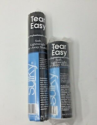 Sulky~Tear Easy~Soft~Lightweight~Stabilizer~Lot of 2 Sizes~Machine Embroidery~