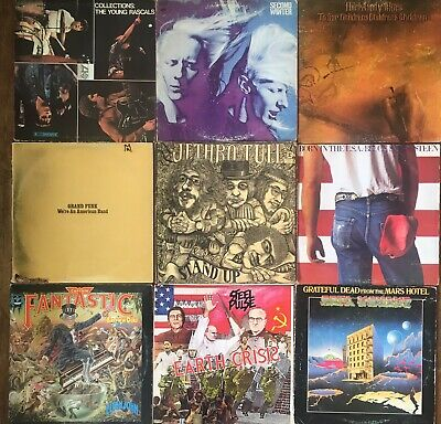 LOT of 9 Classic Rock Vintage Vinyl LP's, FAIR To POOR Condition