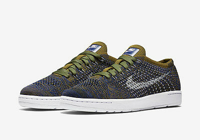 buy popular 027a4 3db3a Nike W Tennis Classic Ultra Flyknit Shoes Olive Blue 833860 301 trainer