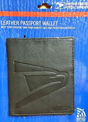 2 RFID Blocking Black Leather Passport Wallet Card Holder Security Travel USPS