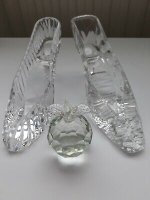Crystal/glass Slipper Ornament x 2