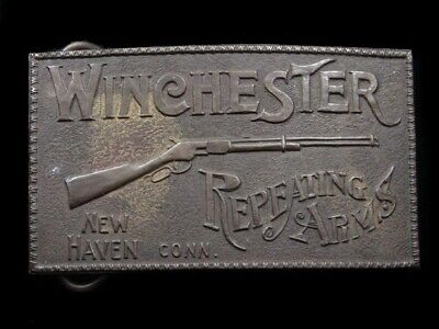 RK11155 VINTAGE 1970s **WINCHESTER REPEATING ARMS** GUN & FIREARM BELT BUCKLE
