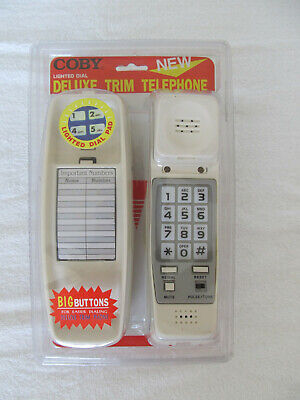 New COBY CT-P200 Desk or Wall Mountable Telephone w/lighted Keypad & Big Buttons