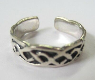Toe Rings 2pcs Solid Sterling Silver Adjustable Toe Ring Flower Leaves Oxidized Jewelry Jewelry & Watches