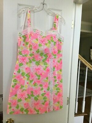 ac18f8eaf95875 LILLY PULITZER VALLI Shift Poolside Blue Going Stag Size 12 NWOT ...