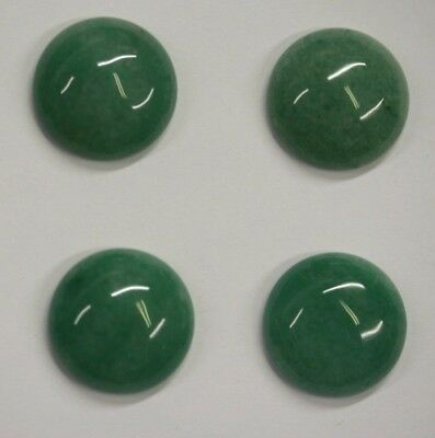 4pcs Natural Aventurine Green Round Calibrated Cabochon 12mm 14mm 18mm Gemstones