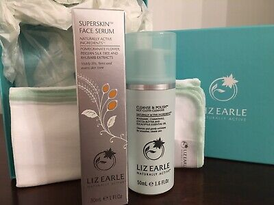 Liz Earle Gift Set (Cleanse and Polish & Superskin Serum) New And Sealed