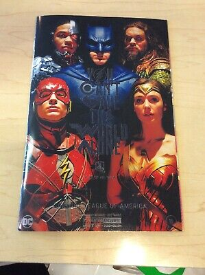 Justice League Of America #15 Movie Poster Variant Nycc Exclusive Dc Comics 2017