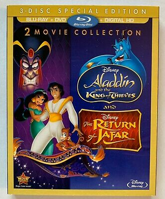 ALADDIN II & III: King of Thieves / Return of Jafar (BLU-RAY +DVD + DIGITAL) NEW