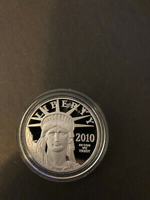 2010 W $100 1 Oz 9995 PLATINUM American EAGLE Proof Coin (cracked coin case)