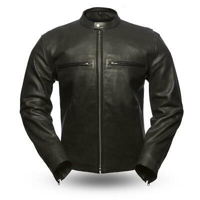 9f739618e MEN'S INFINITY AIRFLOW Perforated Leather Motorcycle Armor Biker ...