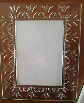 """Pre Owned Waterford Crystal  """"thank You""""  Picture Frame"""