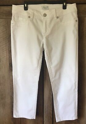 7 For All Mankind White Denim Capris Cropped Jeans SZ.14 Mint Condition