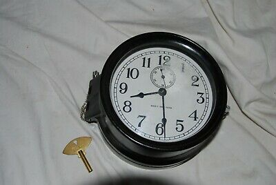 WWII Era Seth Thomas Mark I Deck Clock, Includes key, Excellent condition!