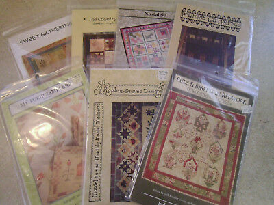 Lot of 7 Quilt Craft Project Patterns
