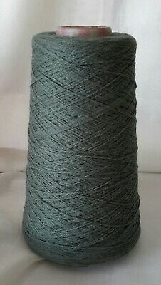 Cone 8 of 2ply Knoll Exquisite Pure wool, in Fern Green. Weighing approx 222g