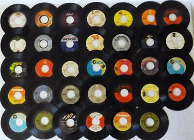 Lot of 34, 1970s, 45 rpm Records Rock, Soul, Funk + FOR CRAFTS, LABEL COLLECTION