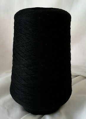 Cone 11  of 2ply Pure wool, in Dramatic Black  Weighing approx 336g